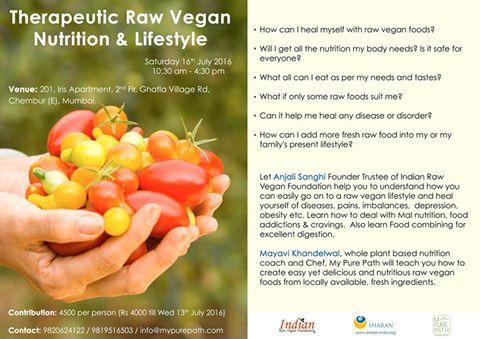 16 July 2016 Therapeutic Raw Vegan Lifestyle_Mumbai