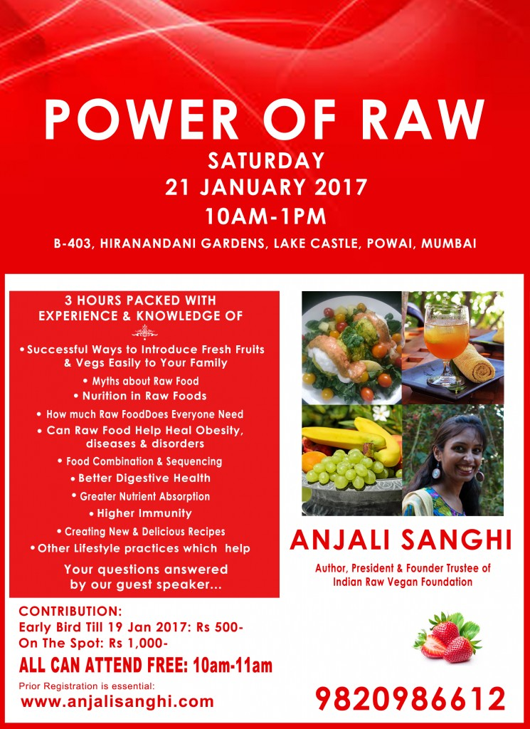 Sat 21 Jan 2017 POWER OF RAW