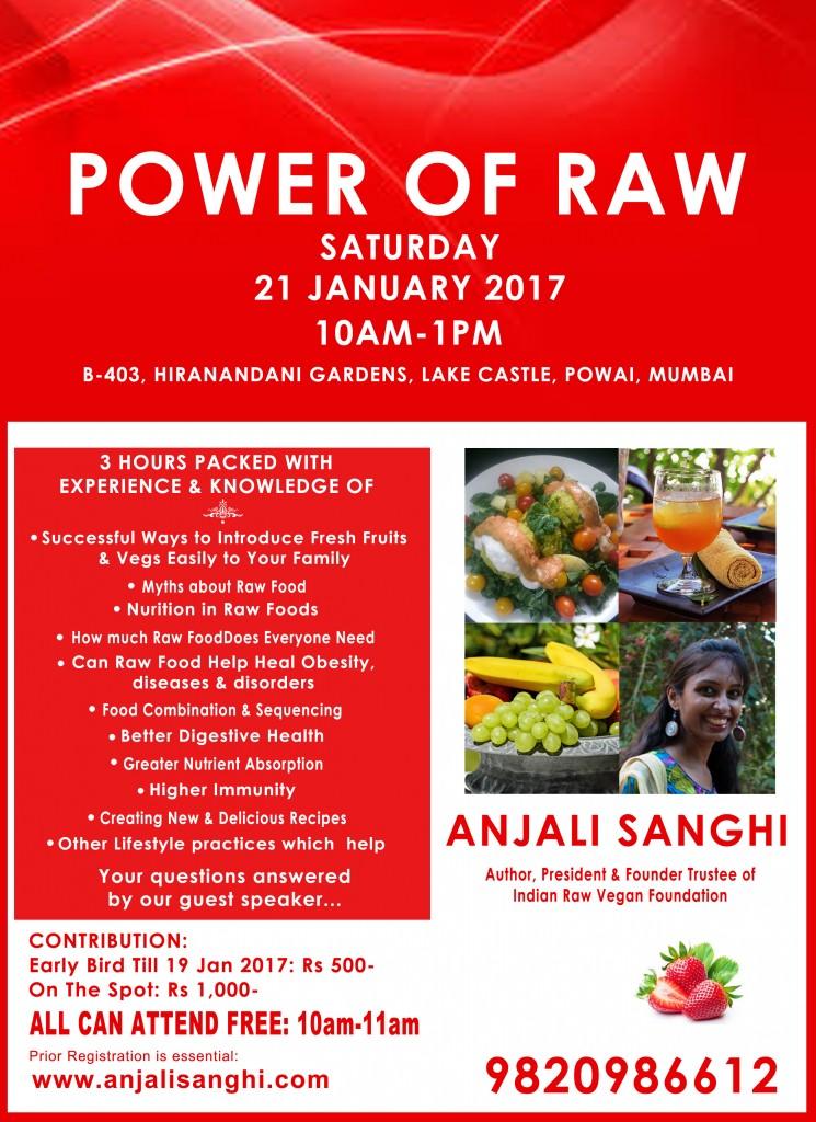 Sat 21 Jan 2017 POWER OF RAW