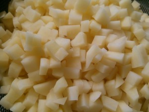 Fine chopped Potatoes